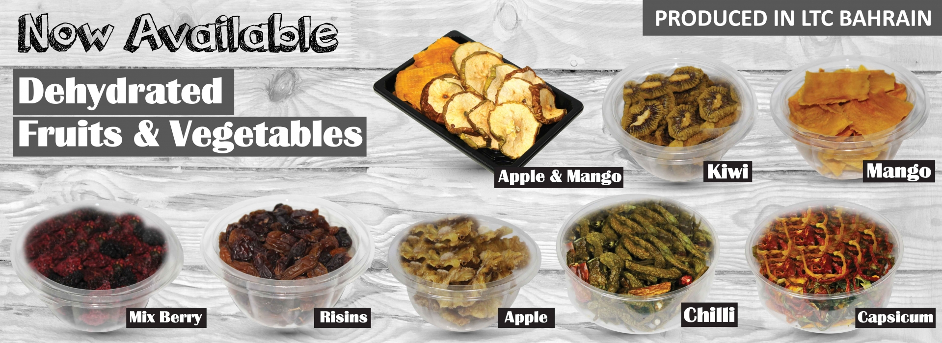 Dehydrated Fruits & Vegetables Available now at LTC